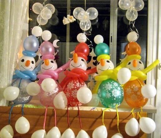 Новогодний воздушный шар своими руками