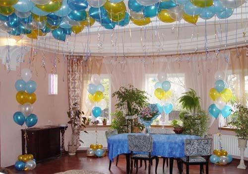 Как украсить зал на день рождения своими руками фото